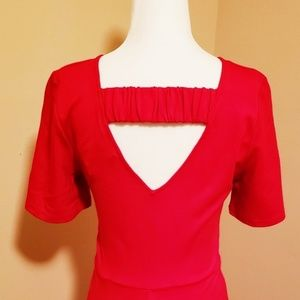 Sugarlips Dresses - Sugarlips Red Fit & Flare Dress NWT